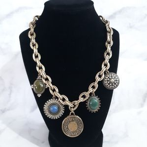Loft bronze tone chunky necklace